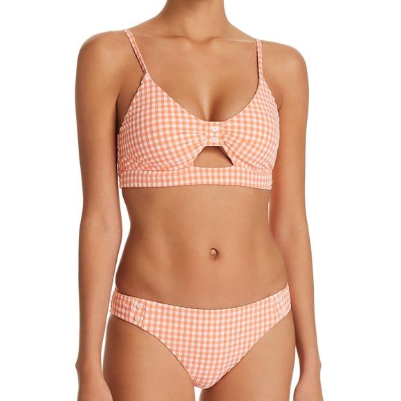 e3f18aa684f98 Nanette Lepore Swim | Orange White Gingham Bikini Nwt | Poshmark